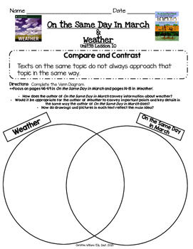 Readygen 3rd Grade Unit 3 Module B Lesson 10 Compare and COntrast