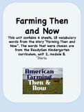 Readygen Farming Then and Now Kindergarten Unit2 Module B