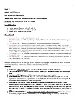 Readygen 2014 Grade 1 Unit 3A lesson 2 lesson plan Rows and Piles of Coins
