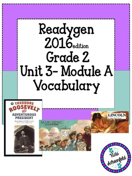 Readygen Grade 2 Vocabulary Cards for Unit 3 Module A