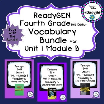 Readygen Grade 4 Unit 1 Module B Vocabulary Bundle