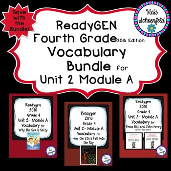 Readygen Grade 4 Unit 2 Module A Vocabulary Bundle