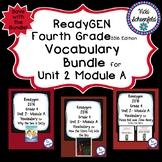 Readygen Grade 4 Unit 2 Module A Vocabulary Bundle