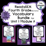 Readygen Grade 4 Unit 1 Module A Vocabulary Bundle