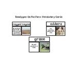 Readygen: On the Farm Vocabulary Cards
