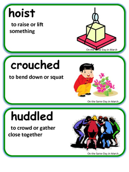 Readygen On the Same Day in March Vocabulary 3rd Grade Unit 3 Module B