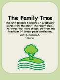 Readygen The Family Tree Vocabulary 1st Grade Unit 4 Module A