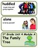 Readygen The Family Tree Vocabulary 1st Grade Unit 4 Module A