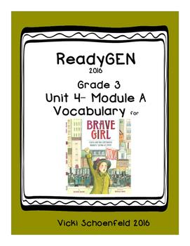 Readygen Vocabulary Brave Girl