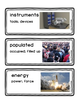 Readygen Vocabulary Cards for Earthquakes