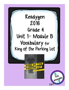 Readygen Vocabulary Grade 4 King of the Parking Lot