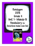 Readygen Vocabulary Grade 4 Skeletons Inside and Out