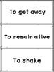 SAMPLE of Readygen Vocabulary Unit 1 Module A