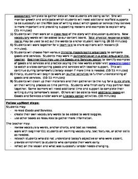 Readygen 2014 writing lesson plan Grade 1 3B lesson 1