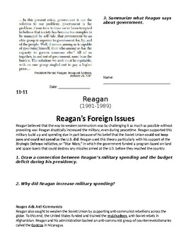 Reagan Foreign & Domestic Policies