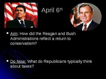 Reagan and Bush I PowerPoint