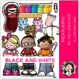 Reagan's Measuring clip art - BLACK AND WHITE- by Melonheadz