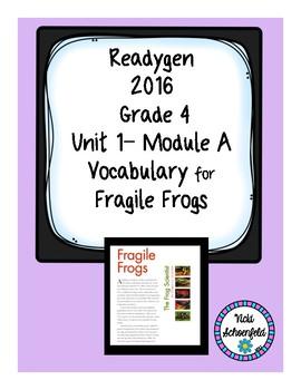 Reagygen Vocabulary Fragile Frogs
