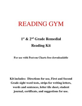 Reading Gym Remedial Kit:  1st & 2nd Grade