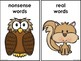 Real And Nonsense Word Sort Acorn Nuts