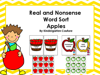 Real And Nonsense Word Sort -Apples