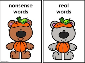 Real And Nonsense Word Sort Little Pumpkins