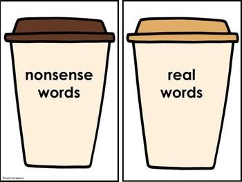 Real And Nonsense Word Sort Morning Treats