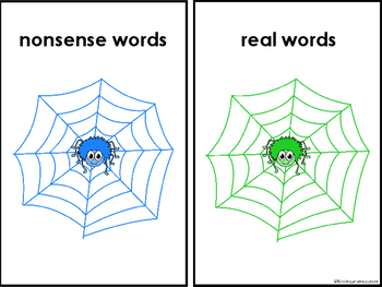 Real And Nonsense Word Sort Spiders
