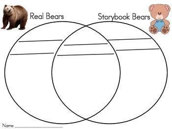 Real Bears vs. Storybook Bears Venn Diagram