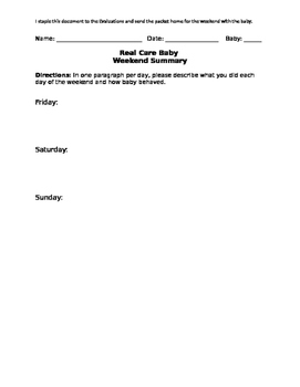 Real Care Baby Weekend Summary