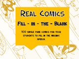 Real Comics {Fill - in - the - Speech - Bubble}