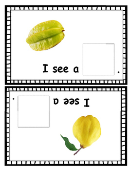 Real Fruit Pictures ~ Printable Color Interactive Reader featuring ~ Book 2