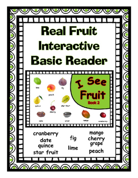 Real Fruit Pictures ~ Printable Color Interactive Reader f