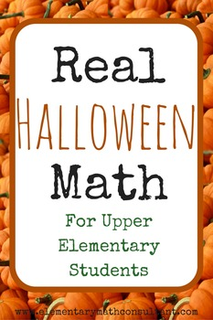 Real HALLOWEEN Math for 4th grade and 5th grade