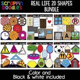 Real Life 2D Shapes Bundle {Scrappin Doodles Clipart}
