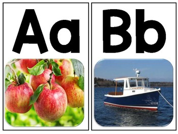 Real Life Alphabet Posters