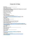 Real Life Budget Worksheet