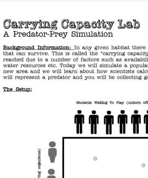 Real Life Carrying Capacity Simulation Lab Activity
