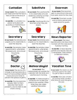 Real Life Classroom Jobs
