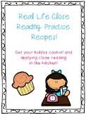 Real Life Close Reading: Recipes!
