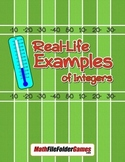 Real-Life Examples of Integers {Integer Activity}