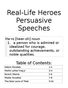 Real Life Heroes Speeches