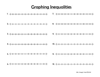 6.EE9 Real Life Inequalities Task Cards