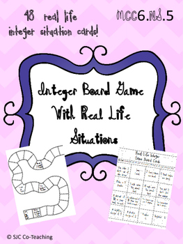 Real Life Integer Situations Board Game