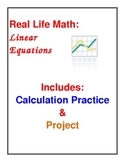 Real Life Math Functions and Linear Equations
