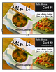 Real Life Math:  Min Li Restaurant Menu