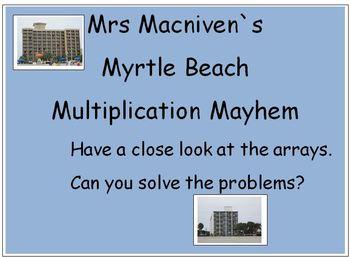 Arrays Multiplication: Real Life Math Myrtle Beach Multiplication