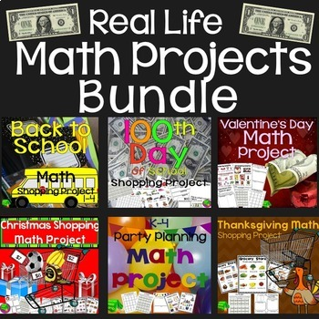 Project Based Learning - Math Project Bundle