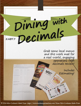 Real-Life Menu Math (Adding, Subtracting, and Multiplying