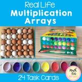 Real Life Multiplication Arrays Task Cards
